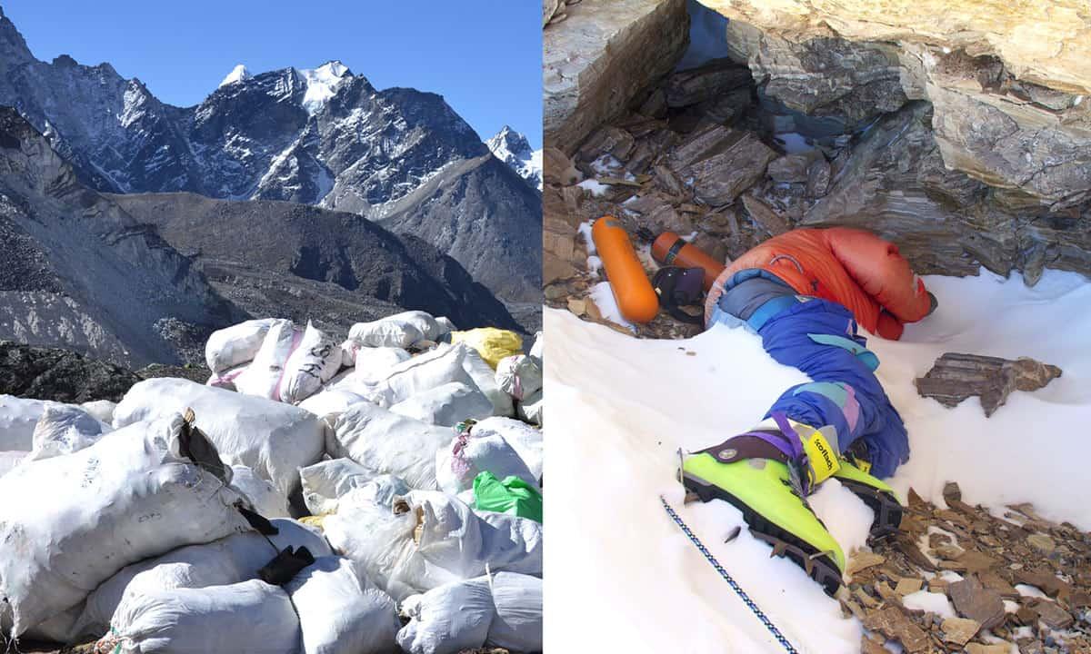 O Everest está derretendo, revelando toneladas de lixo e corpos humanos